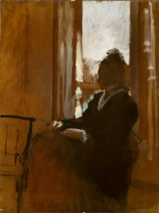 degas woman at a window